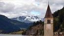 Топ 7 най-красиви потопени църкви - Решензее, Италия