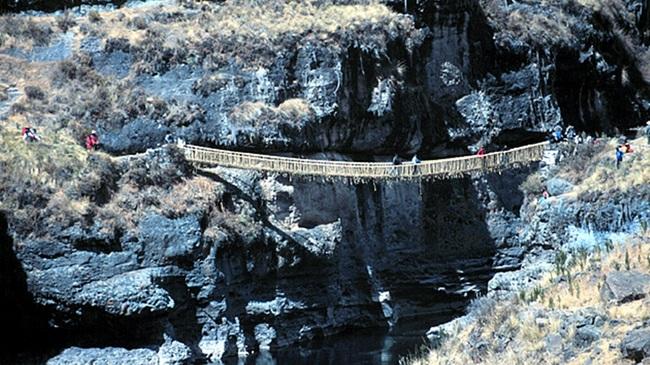 Кешва Чака – единственият останал мост на инките