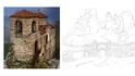 Българските крепости в книжка за оцветяване
