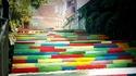 Цветни стълби се появиха в Асеновград