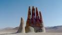 Огромна ръка насред пустинята Атакама