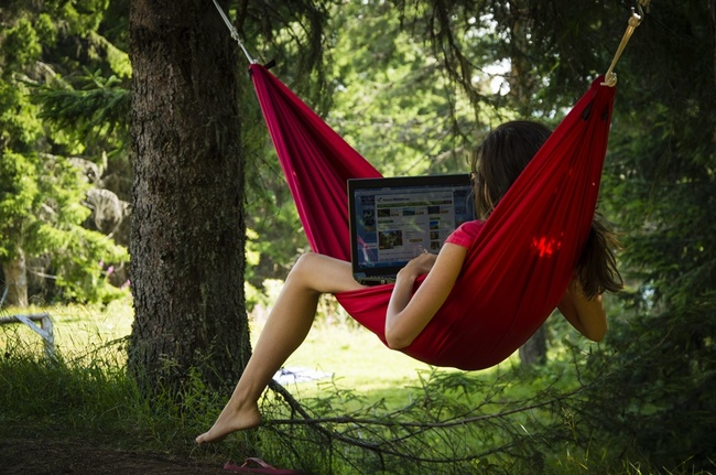 Офис в гората в Чепеларе или почивка по време на работа
