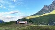 Хотел без покрив и стени в Швейцарските Алпи