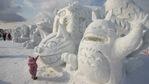 Зимен фестивал на снежните скулптури в Япония