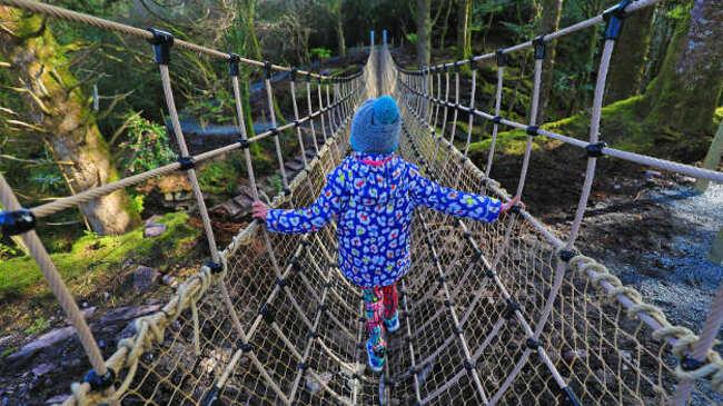 Най-новият въжен мост в Ирландия