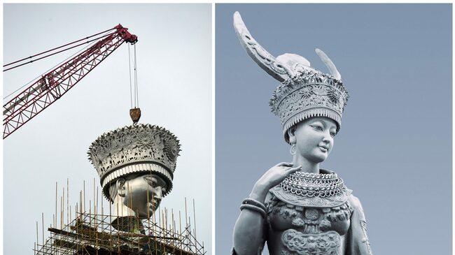 Строят най-високата статуя в Китай