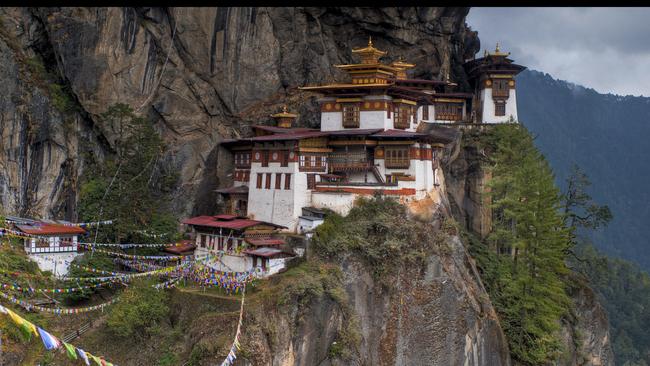 Будисткият манастир, до който се стига само по пътеки