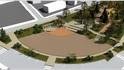 Зона за отдих и сцена в обновения център на град Шипка
