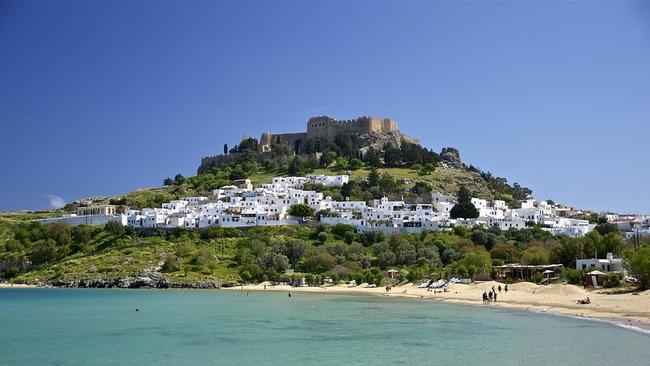 Островът на рицарите в Гърция