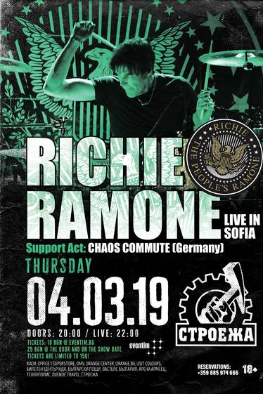 Известният барабанист на The Ramones, Ричи Рамоун, идва в България
