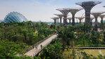 Необикновено съчетание на модерна архитектура и тропически растения в Сингапур