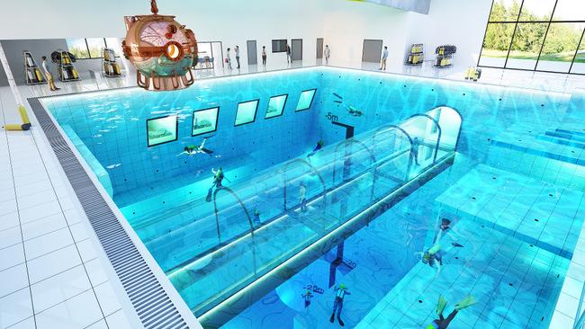 Най-дълбокият плувен басейн в света ще бъде в Полша